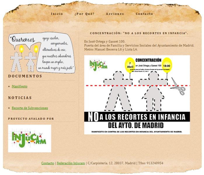 No a los Recortes de Infancia por el Ayto Madrid