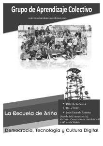 La Escuela de Ariño. Democracia, Tecnología y Cultura Digital