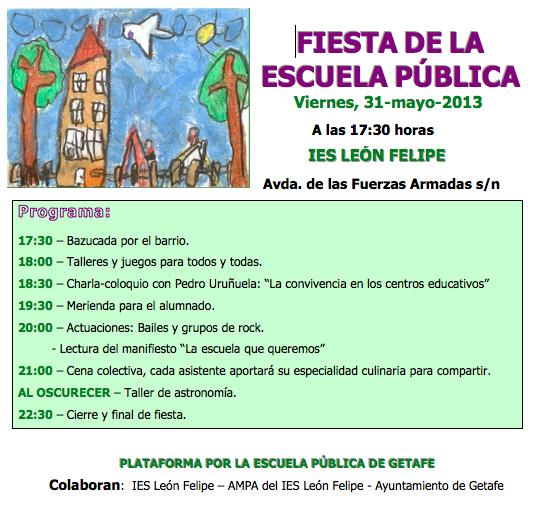 Fiesta Escuela Pública Getafe