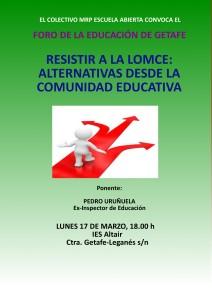 Foro Educacion Getafe Resistir a la LOMCE