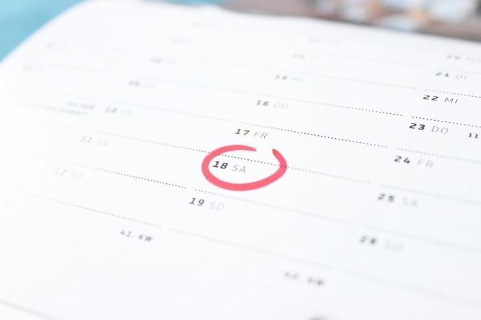 Calendario de sesiones Grupo de APrendizaje COlectivo 2018-19